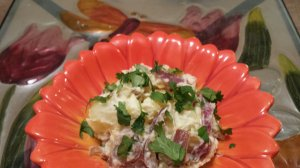 Beet and Potato Salad made with Golden Beets