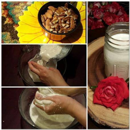 making nut milk