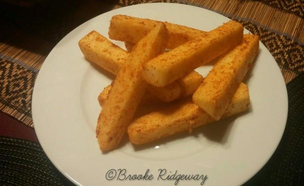 raw jicama fries